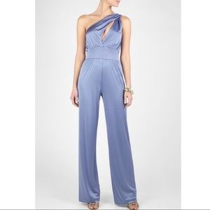 Halston Heritage One Shoulder Galaxy Jumpsuit